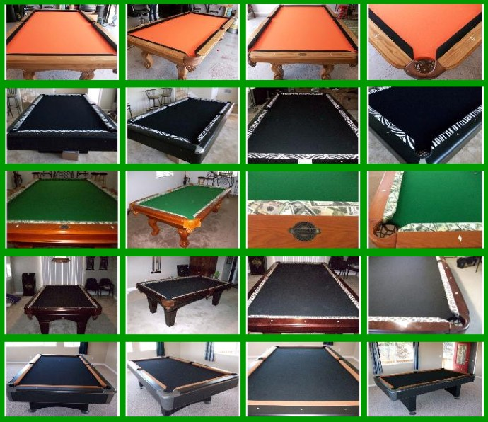 Know The Exact Size Of Your Table Before Requesting Felt! San Francisco Pool  Tables