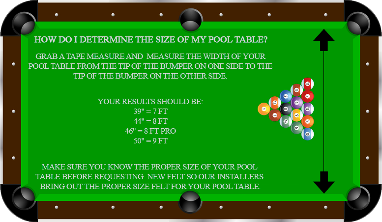 Pool table felt colors san francisco - What is the size of a standard pool table ...